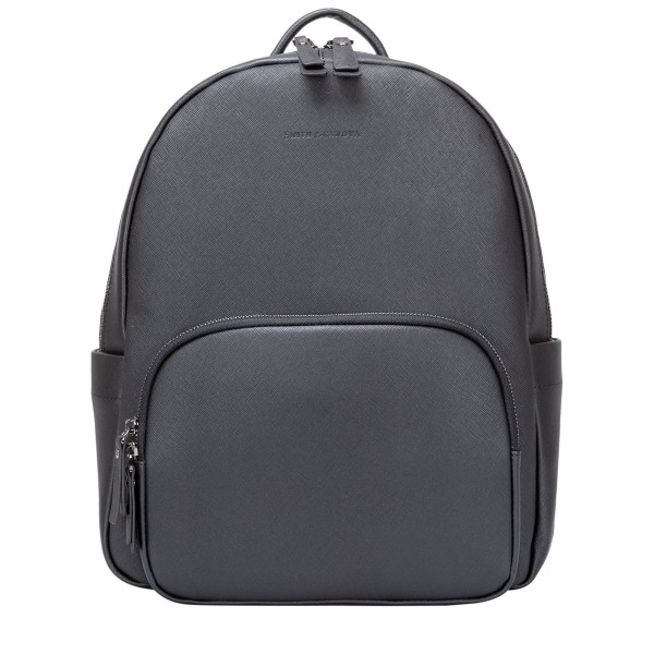 Saffiano Leather Zip Around Backpack