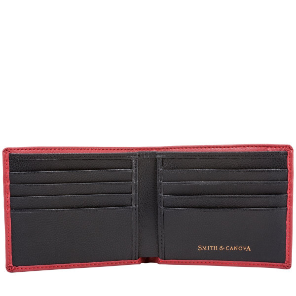 Two-tone Saffiano Leather Bi-fold Wallet