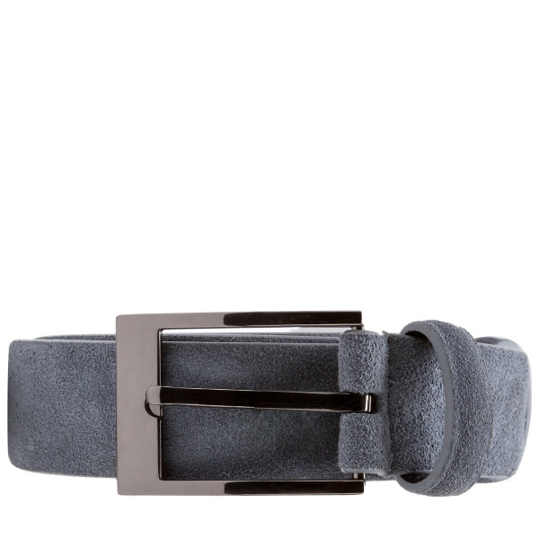 Suede Leather Skinny Belt
