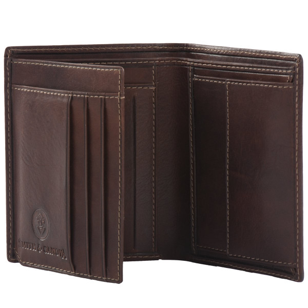 Distressed Leather Large Bi-fold Wallet