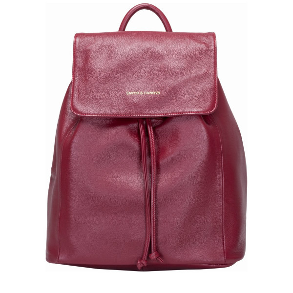 Soft Leather Drawstring Backpack