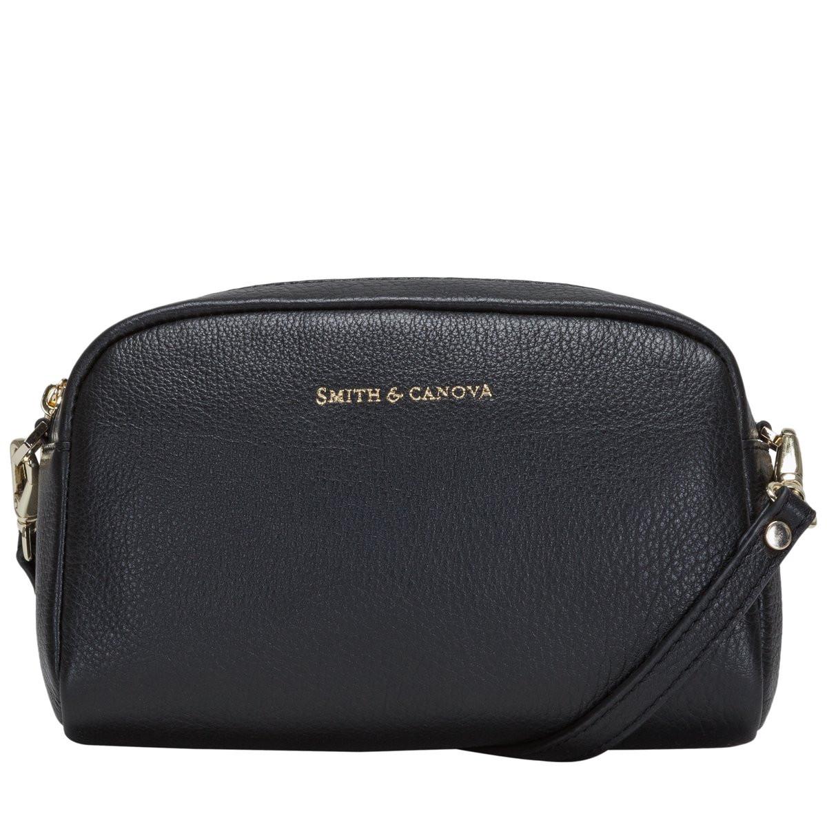 ec8d31750c0 Small Soft Leather Zip Top Crossbody Bag - Smith & Canova