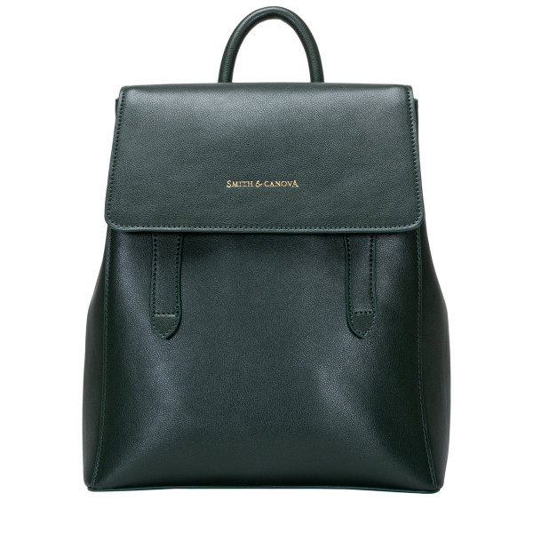 Smooth Leather Structured Backpack