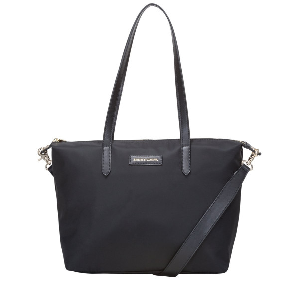 Nylon Zip Top Tote Bag