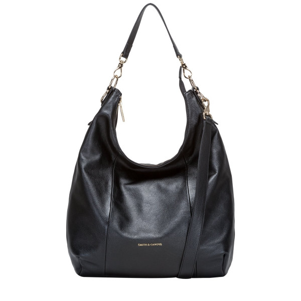 Large Long Bodied Zip Top Slouch Bag