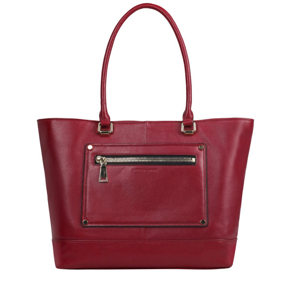 Pebbled Leather E/w Tote Bag