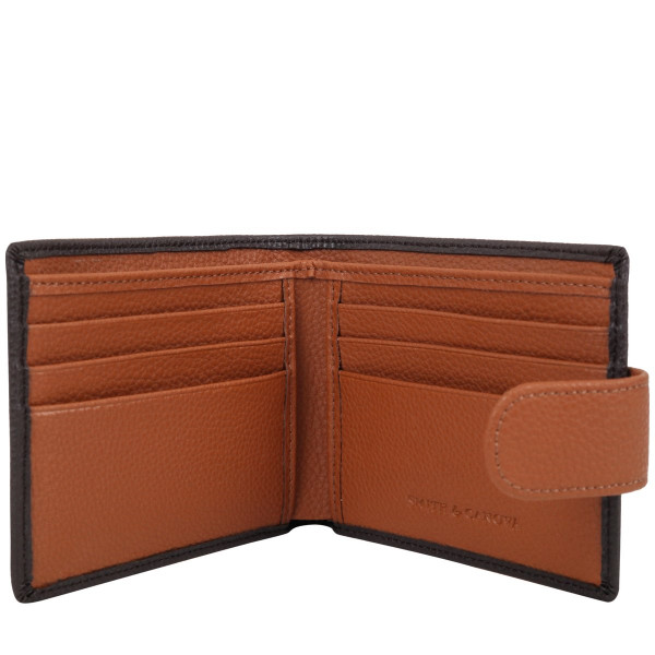 Bi-fold Wallet With Tab Fastening