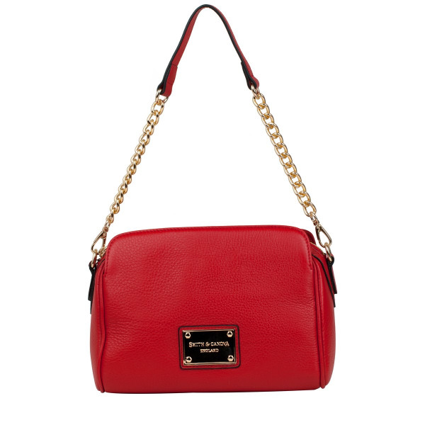 Three Section Centre Zipped Shoulder Bag