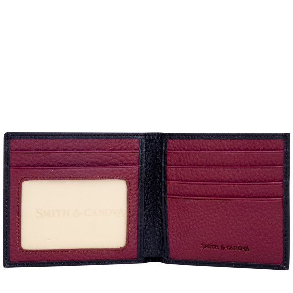 Two-tone Pebbled Leather Bi-fold Wallet