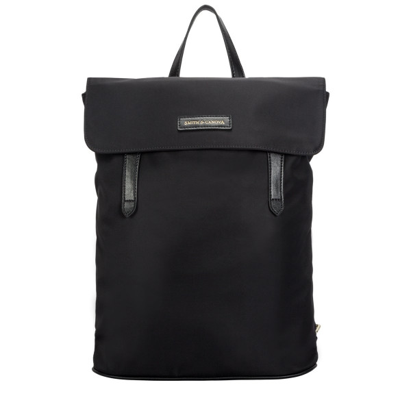 Large Nylon Flapover Backpack