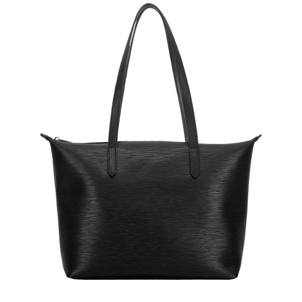 Embossed Leather Zip Top Tote