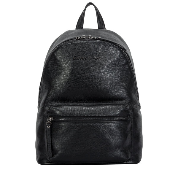 Embossed Leather Zip Around Backpack