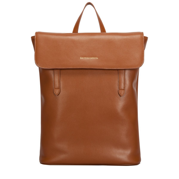 Large Smooth Leather Flapover Backpack