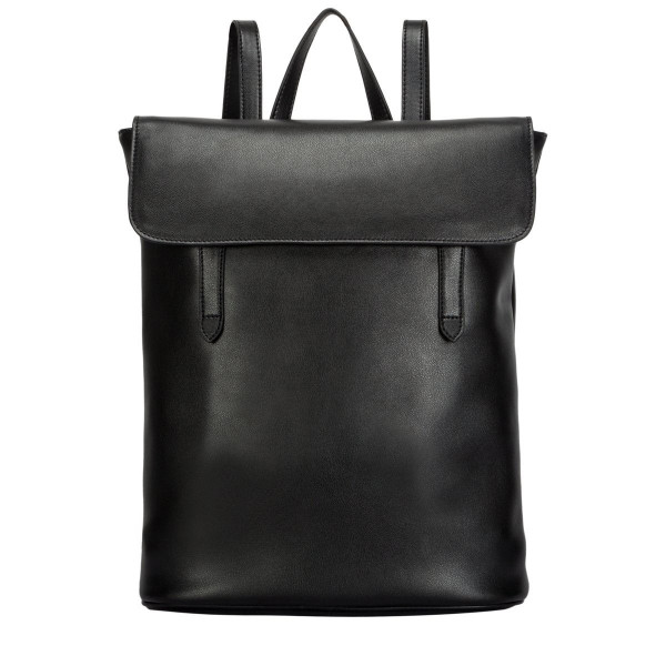Large Leather Flapover Backpack