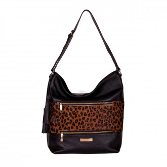 Single Strap Zip Top Shoulder Bag