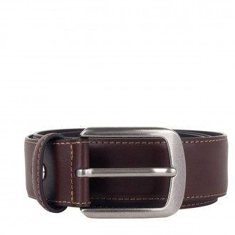 Hanging - Cream Edge Stitch Leather Belt