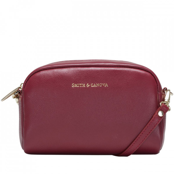 Small Soft Leather Zip Top Crossbody Bag