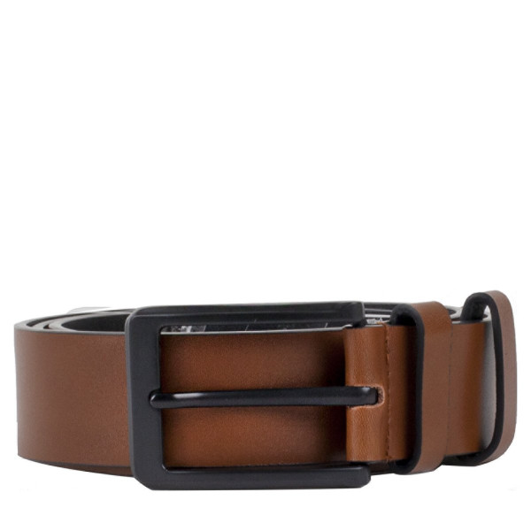 3.5cm Tan Flat Leather Belt