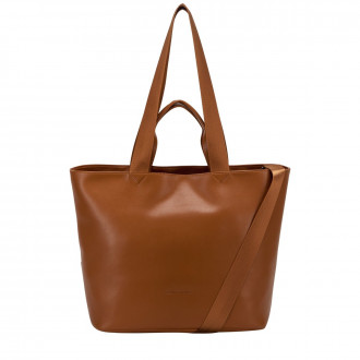 Smooth Leather E/w Tote / Shoulder Bag