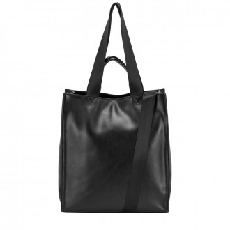 Smooth Leather Tote / Shoulder Bag