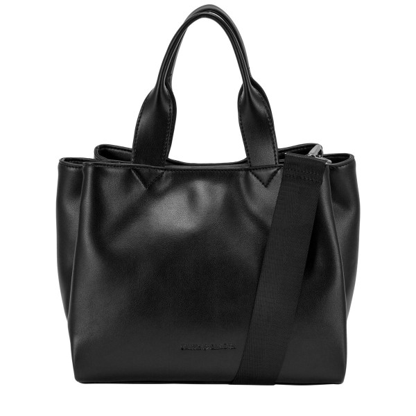 Smooth Leather Structured Grab Bag