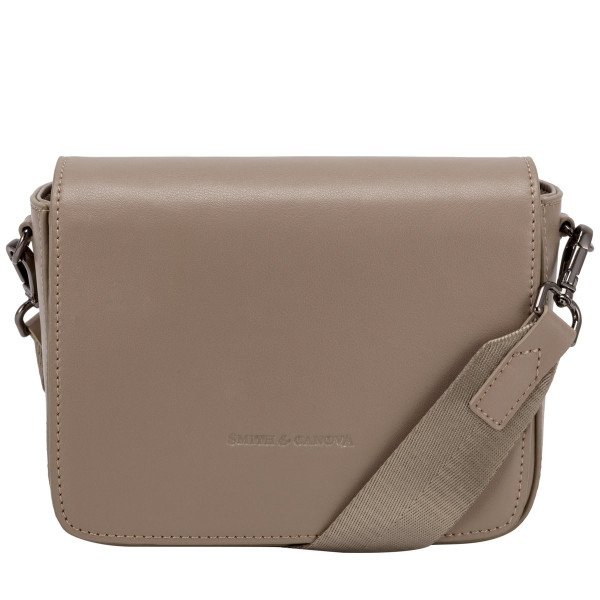 Smooth Leather Flap Over Cross Body Bag