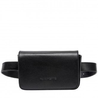 Smooth Leather Flap Over Belt Bag