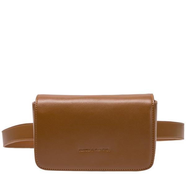 Smooth Leather Flap Over Belt Bag