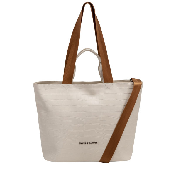 Croc Print Leather E/w Tote / Shoulder