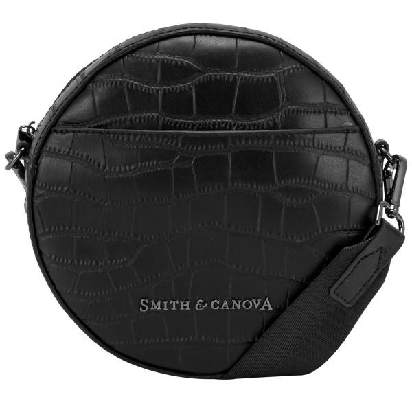Croc Print Leather 'o' Cross Body Bag