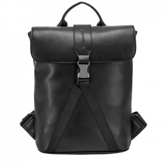 Smooth Leather Buckle Backpack