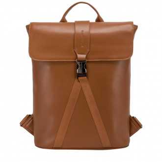 Large Smooth Leather Buckle Backpack