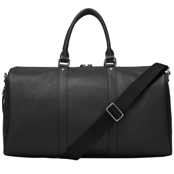 Saffiano Leather Zip Top Holdall