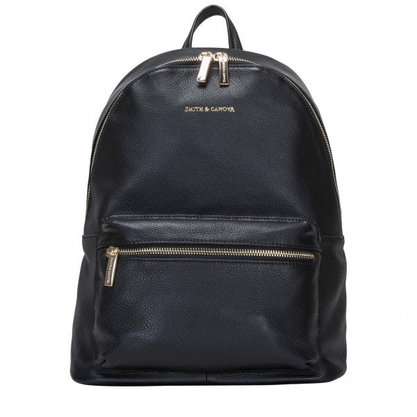 Smooth Leather Zip Around Backpack