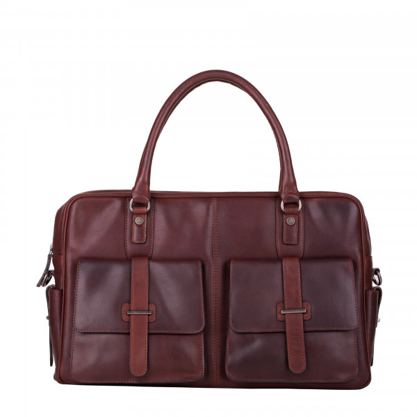 Twin Strap Tab Front Pocketed Holdall