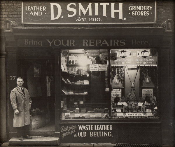 David Smith Sr outside his shop.